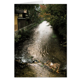 Dark Stream through Gion District Card