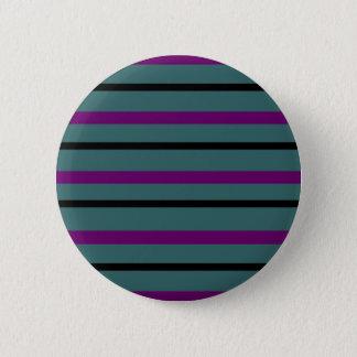 Dark Stripe Love 2 Inch Round Button