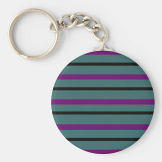 Dark Stripe Love Keychain