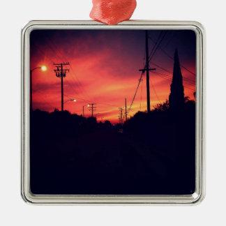 Dark Sunset Metal Ornament