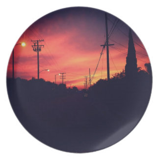 Dark Sunset Plate