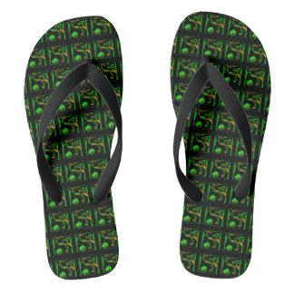 Dark Swamp Flip Flops