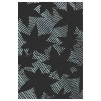 Dark Sweetgum Leaf Pattern Tissue Paper
