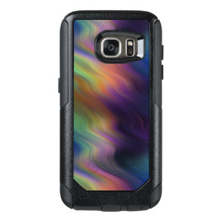 Dark Swirling Rainbow of Color OtterBox Samsung Galaxy S7 Case