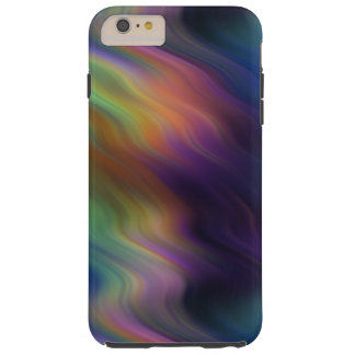 Dark Swirling Rainbow of Colors Abstract Tough iPhone 6 Plus Case