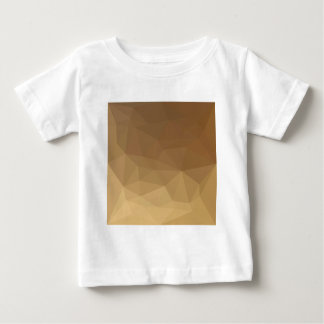 Dark Tangerine Abstract Low Polygon Background Baby T-Shirt