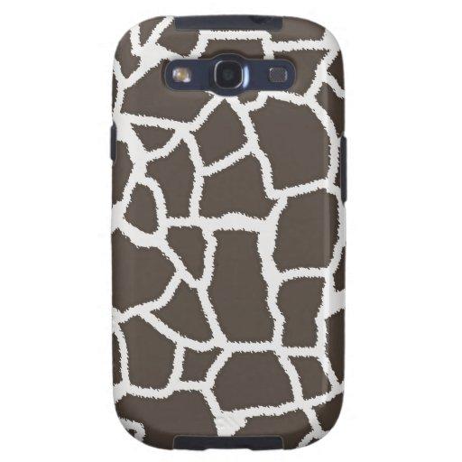 Dark Taupe Giraffe Animal Print Galaxy S3 Covers