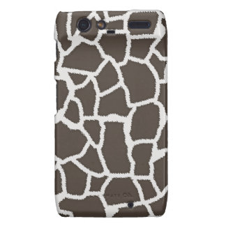 Dark Taupe Giraffe Animal Print Motorola Droid RAZR Covers