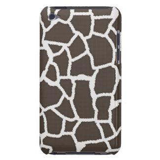 Dark Taupe Giraffe Animal Print iPod Touch Cover