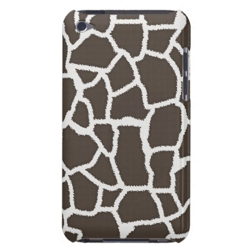 Dark Taupe Giraffe Animal Print iPod Touch Cover