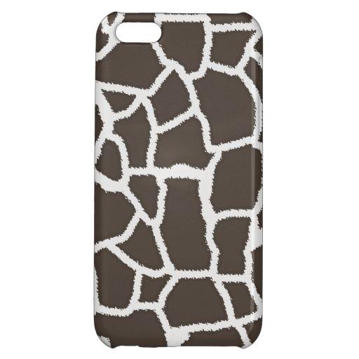 Dark Taupe Giraffe Animal Print iPhone 5C Cover