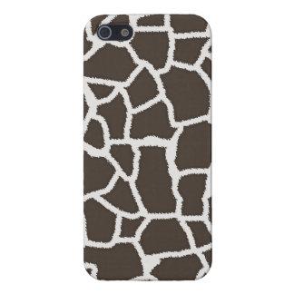 Dark Taupe Giraffe Animal Print iPhone 5 Cases
