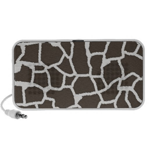 Dark Taupe Giraffe Animal Print iPod Speaker
