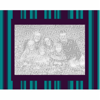 dark teal and purple striped photo frame photo sculpture
