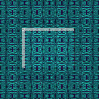 Dark Teal Blue Abstract Pattern Fabric