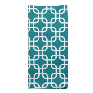 Dark Teal Decorative Geometric Pattern Cloth Napkins
