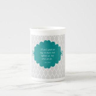 Dark teal elegant Jane Austen bone china mug