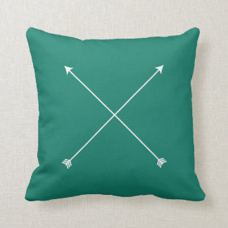 Dark Teal Modern Arrow Minimal Throw Pillow