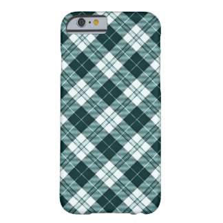 Dark Teal Plaid V2 Barely There iPhone 6 Case