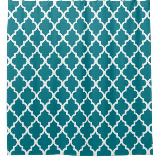 Dark Teal Quatrefoil Pattern