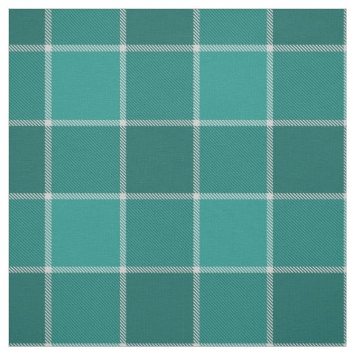 dark teal turquoise chequered plaid fabric