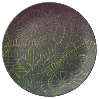 Dark Tie Dye Plate