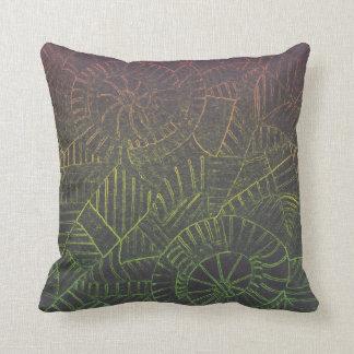 Dark Tie Dye Throw Pillow