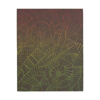 Dark Tie Dye Wood Print