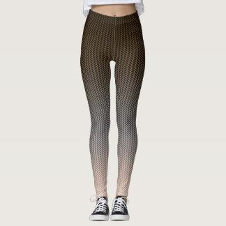 Dark to Light Browns with Weave Pattern Leggings