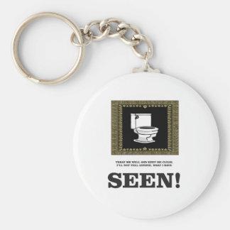 dark toilet humor basic round button keychain