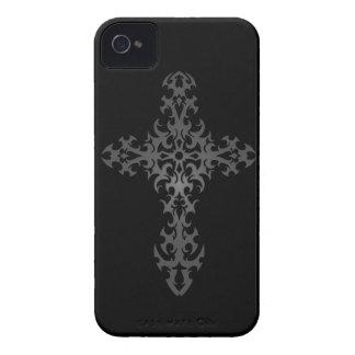 Dark Tribal Gothic Cross iPhone 4 Case