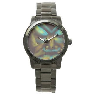 dark tribal tattoo face design wrist watch