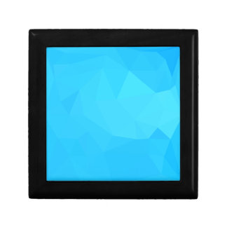 Dark Turquoise Abstract Low Polygon Background Gift Box