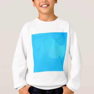 Dark Turquoise Abstract Low Polygon Background Sweatshirt