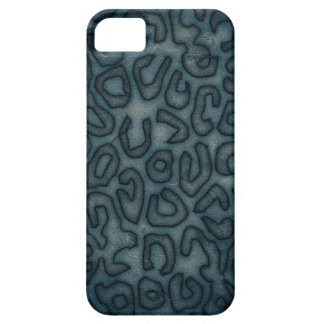 Dark Turquoise Cheetah Abstract Case For The iPhone 5
