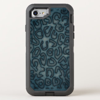 Dark Turquoise Cheetah Abstract OtterBox Defender iPhone 7 Case