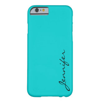 Dark turquoise color background barely there iPhone 6 case
