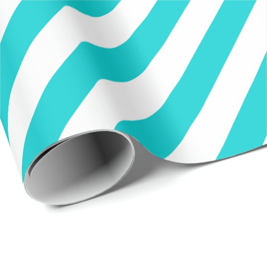 Dark Turquoise Diagonal Stripe Wrapping Paper