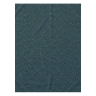 Dark turquoise skulls pattern tablecloth