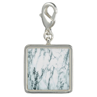 Dark Turquoise Vein Marble Look Photo Charms