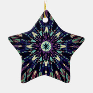 Dark Tye Dye Ceramic Ornament