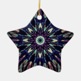 Dark Tye Dye Ceramic Star Ornament
