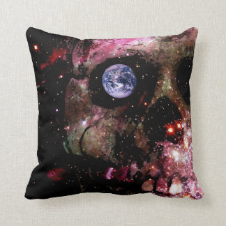 Dark Universe Skull Throw Pillow