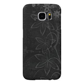 dark vector flowers art samsung galaxy s6 cases
