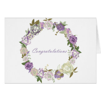 Dark velvet roses congratulations card