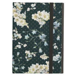 Dark vintage flower wallpaper pattern case for iPad air