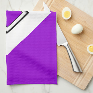 Dark Violet Top Lettered Kitchen Towel