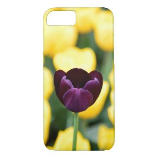 Dark Violet Tulip iPhone 7 Case