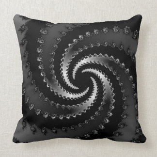 Dark Vortex Fractal Throw Pillow