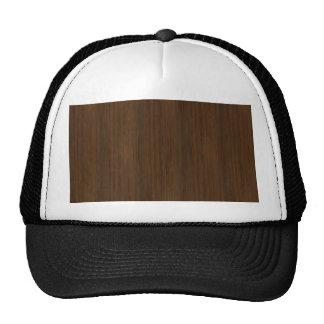 Dark Walnut Brown Bamboo Wood Grain Look Trucker Hat
